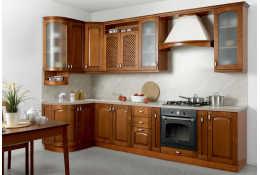 Кухня Трапеза Массив-Люкс 1335х2500 мм с гнутыми фасадами