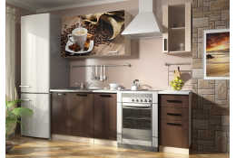 Кухня Вика фотопечать Кофе 2 (1600 мм)