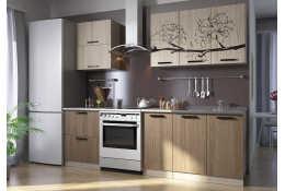 Кухня Вика фотопечать Цветок 10 (1800 мм)