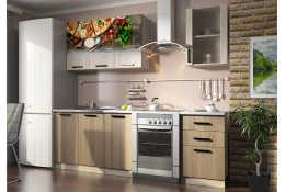 Кухня Вика фотопечать Пицца 7 (1600 мм)