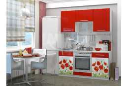 Кухня Маки 1600 мм фотопечать