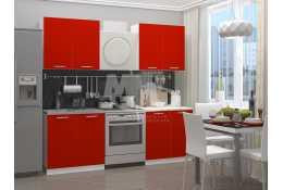 Кухня Красная 1600 мм