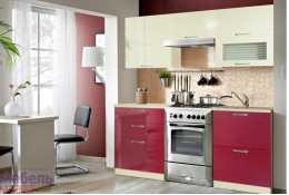 Модульная кухня Шанталь 2 Рубин (композиция 1)