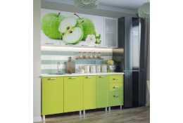 Кухня 2000 мм с фотопечатью Яблоки