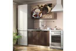 Кухня Вика фотопечать Кофе 2 (комплект №1 1200 мм)