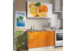 Кухня Роза фотопечать Апельсины 1 (комплект №1 1200 мм)