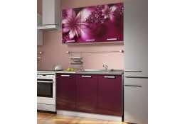 Кухня Роза фотопечать Лилии 4 (комплект №1 1200 мм)