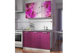Кухня Роза фотопечать Орхидея 5 (комплект №1 1200 мм)
