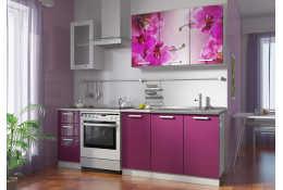 Кухня Роза фотопечать Орхидея 5 (1600 мм)