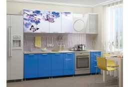 Кухня Бабочки 2000 мм фотопечать