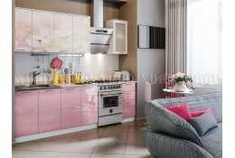 Кухня Вишневый цвет 2000 мм фотопечать