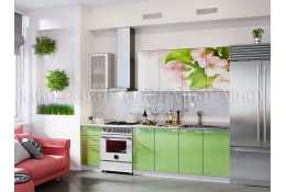 Кухня Яблоневый цвет 2000 мм фотопечать