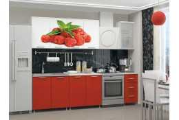 Кухня Малина 2000 мм фотопечать