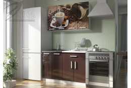 Кухня Роза фотопечать Кофе 2 (комплект №2 1200 мм)